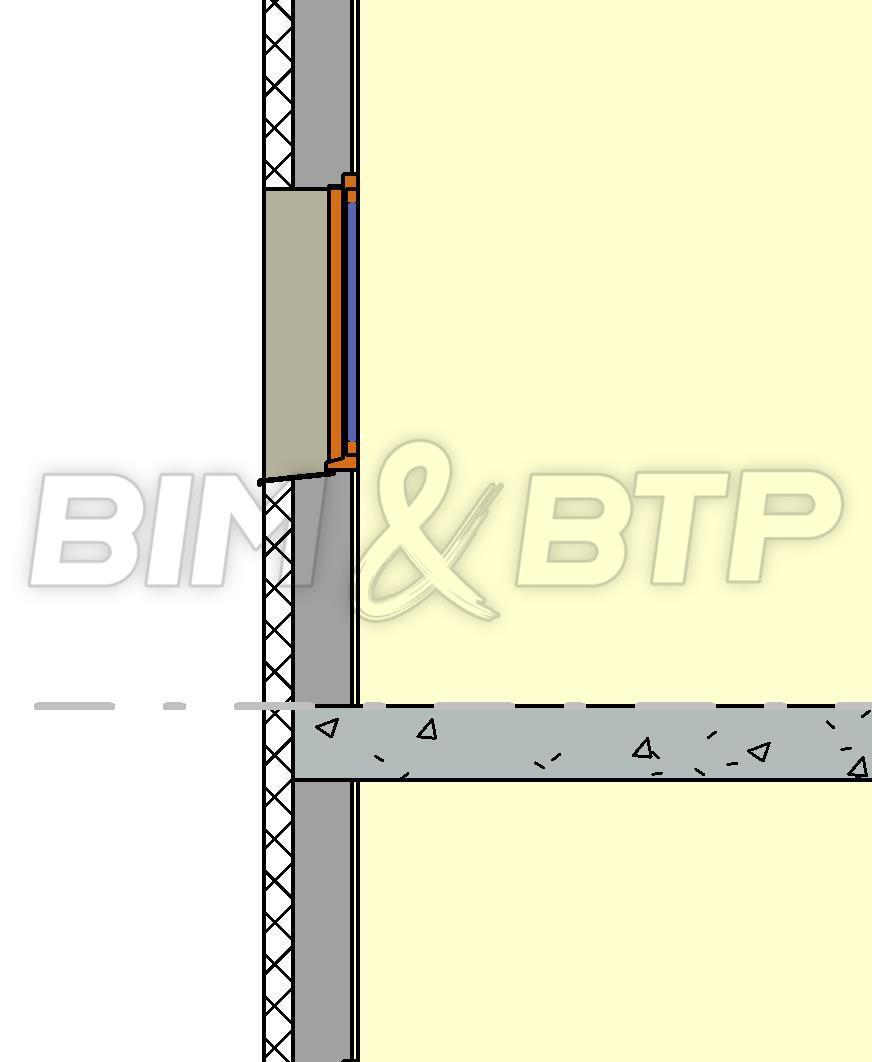 Un mur multi-composants avec l'isolation à l'extérieur