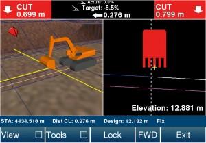 Guidage des engisn de terrassement grâce à la maquette numérique