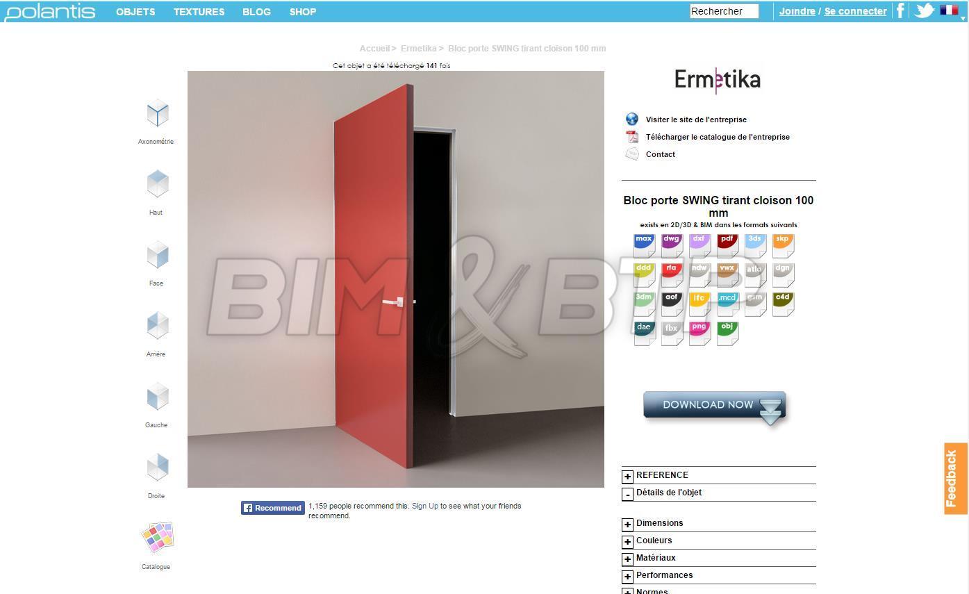 Une porte en objet BIM