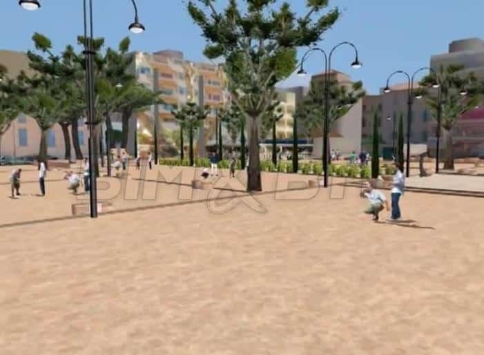Vue 3D de la maquette numérique urbaine de la ville de Cannes