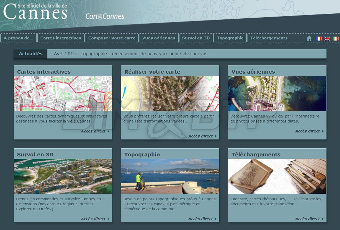 Le site de la ville de Cannes en 3D