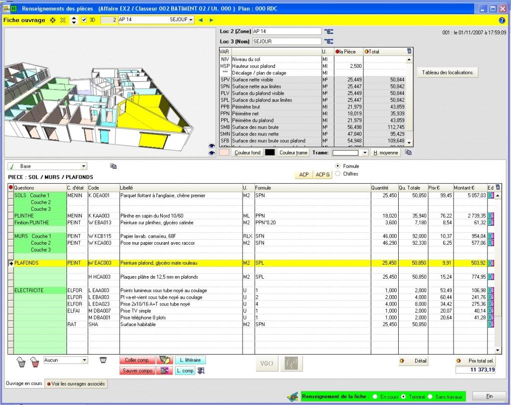 WinQUANT - logiciel de métré