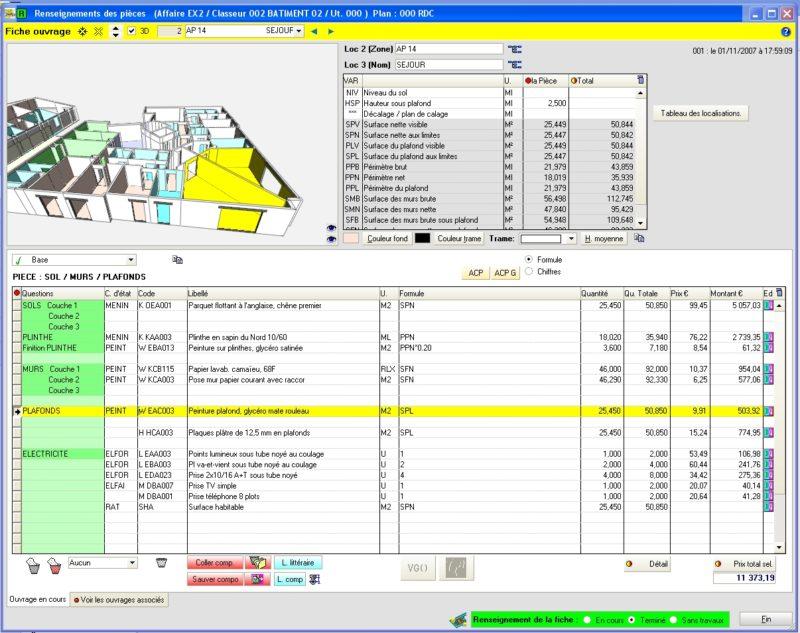 Etablir un prix sur la base d une maquette bim btp for Etude de sol prix