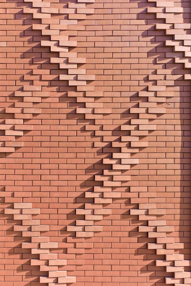 Un calepinage complexe de briques