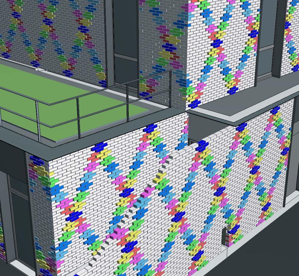 Un code couleur a été établi sur la base de la maquette numérique