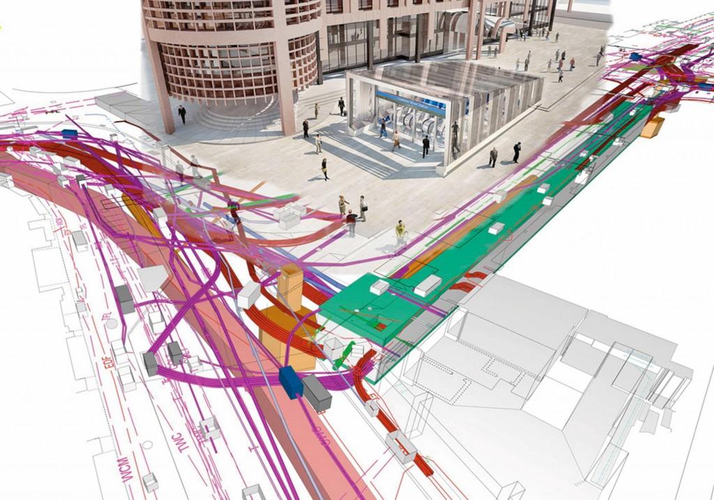 Une maquette numérique urbaine avec le recollement des réseaux