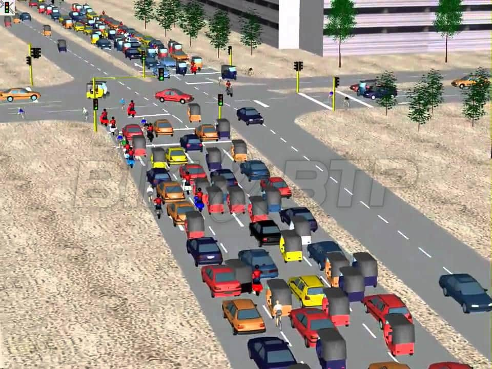 Simulation de traffic routier (PTV VISSIM)