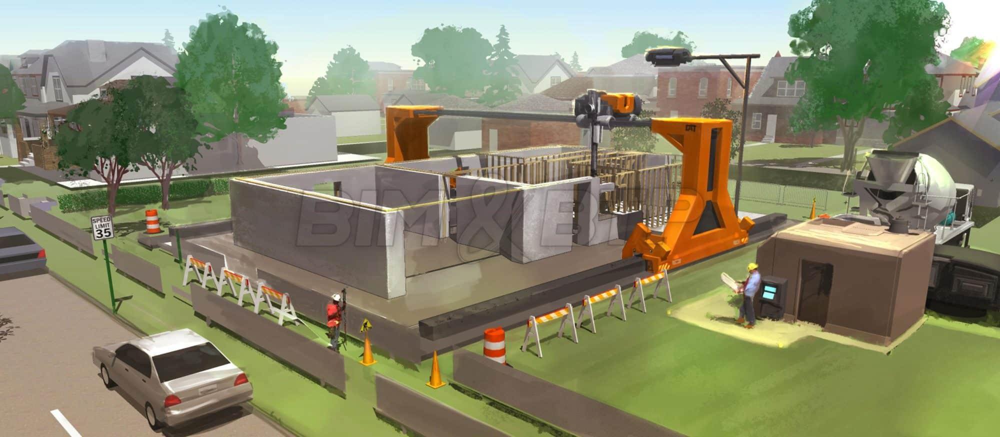 La construction directe par impression 3d sur site bim btp - Construction de maison 3d ...