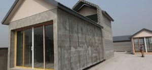 Une maison imprimée en 3D en Chine
