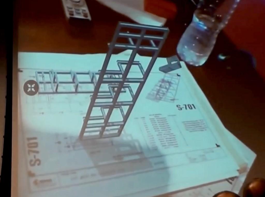 Superposition d'une image 3D sur un plan papier