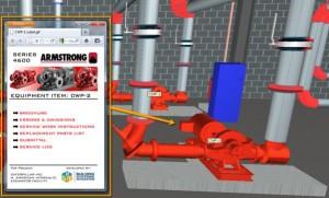 Un équipement technique dans une maquette numérique