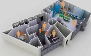 Détecttion de personnes dans une maquette 3D